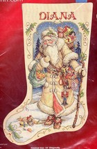 Janlynn Father Winter Old Victorian Santa Cross Stitch Stocking Kit 023-0340 E - $99.95