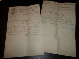 Two Insurance company receipts...Continental and Manufacturers & Merchan... - $4.99