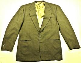 Jhane Barnes Mens Sport Coat 44 L Checkered Suit Jacket USA Olive Green - $37.01