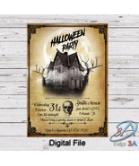 Halloween invitation, Digital file, Halloween Party, Halloween, Haunted ... - €4,82 EUR