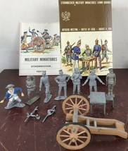 STROMBECKER MILITARY MINIATURES 54MM ROUNDS OFFICERS MEETING BATTLE OF L... - $18.70