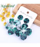 Acrylic Trendy Women Earrings Flower Style Boho Dangle Drop Geometric Tassel - $4.74