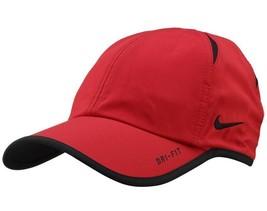 New! Rare Red Nike Men/Women's Tennis Cap DRI-FIT Runner Hat Featherlight - $148.38