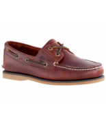 TIMBERLAND 2 Eye Classic Handsewn Men's Root Beer Leather Boat Shoes, #2... - £61.05 GBP