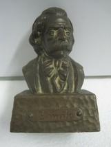 Antique small bust Figures Figurine Camilo Castelo Branco in bronze - $32.38