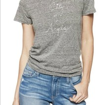 PAIGE City Of Angels Distressed Grey Tee Size Small - $24.75