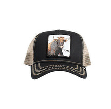 Goorin Bros Snapback Mesh Cap Animal Farm Trucker Hat (Black - That's Bull) image 2