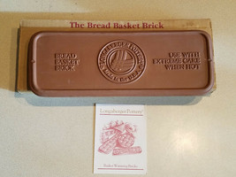 Longaberger Bread Basket Brick Pottery Bread Warmer # 30074 - $19.75