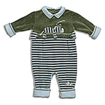 "Le Top Baby ""Zzzebra"" Zebras Striped Knit Coverall  - $31.00"