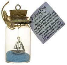 2.5 Inch FriendShip Bottle Charm Keepsake Gift for a Friend - £6.05 GBP