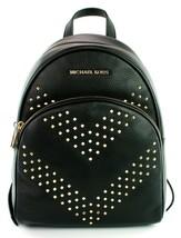 Michael Kors Abbey Medium Backpack Bag Black Studded Leather RRP £360 - $375.77