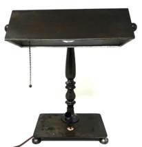 Antique 1930s ART DECO Bankers Lamp w/ WAHL-EVERSHARP Fountain Pen Holder - $71.99