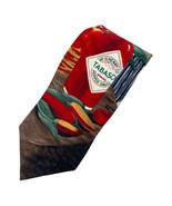 Tabasco Sauce Bottle Chilis Table Silk Tie Necktie - $8.50