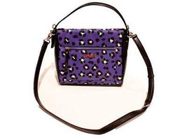 KATE SPADE EMPEROR Blue HARRIS Cobble Hill CYBER Cheetah SHOULDER Bag PU... - $370.80 CAD