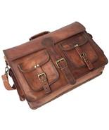 Men Retro Genuine Leather Handbag Business Briefcase Messenger Shoulder... - $54.81