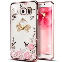 Case for LG G6,Secret Garden Beauty Butterfly Floral Flower Bling Diamon... - $9.46