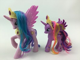 My Little Pony Princess Celestia Pink Twilight Sparkle 2pc Lot Dolls Has... - $17.77