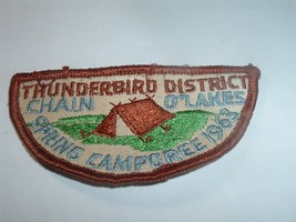 Boy Scouts Patch BSA Thunderbird / Chain O'lakes Camporee 1963 - $20.00