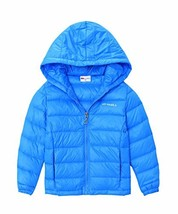 M2C Girls Outdoor Packable Lightweight Down Jacket with Hood Blue 5/6 - $38.49