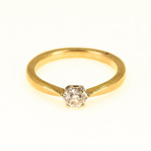 Solitaire Diamond Engagement ring UK Size P BHS - $616.00