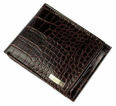 Calvin Klein CK Men's Leather Removable Card ID Passcase Wallet Brown 79491