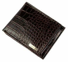 Calvin Klein CK Men's Leather Removable Card ID Passcase Wallet Brown 79491 image 1