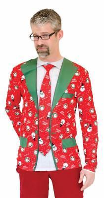Ugly Christmas Sweater Suit Tie Mens Adult Costume Party FR130557