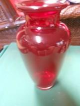 "Beautiful ART GLASS Ruby Red VASE 10"" - $15.43"