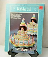 Birthday Girl an outfit to fit either a music box or pillow doll crochet... - $8.00