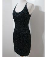 CARMEN MARC VALVO Black Beaded Spag Halter Strap Dress 4 NWOT - $359.99