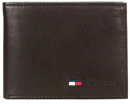 Tommy Hilfiger Men's Premium Leather Credit Card ID Passcase Billfold Wallet image 9