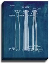 Baseball Bat Patent Print Midnight Blue on Canvas - $39.95+