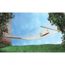 Hammock White Two Person Cotton Outdoor Relaxation 5 Star Rated Item - $49.95
