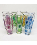 Cerve Italy Tall Shot Glasses MCM Amoeba Oval Atomic Set of 7 Mid Centur... - $49.49