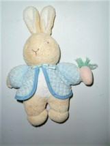 Eden Peter Rabbit Terry Thermal Bunny Plush Figure Rattle Beatrix Potter - $19.39