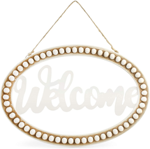 Beaded wood welcome sign - $17.81