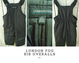 London Fog Kids Unisex Size 3T Bib Overall Lined Padded Snow Ski Winter ... - $20.79