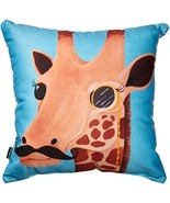 DENY Designs Mandy Hazell Gentleman Giraffe Throw Pillow, 18-Inch by 18-... - $35.99