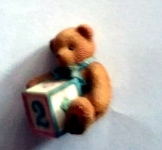 Enesco Cherished Teddies Birthday Bear #2 - $10.00