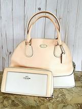 Coach CROSSGRAIN CORA DOMED SATCHEL crossbody/satchel in apricot & WALLET - $74.25