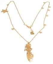 Long Necklace 70 cm, Silver 925, Pendant Mermaid, Stars Marine, le Favole image 1