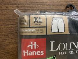 Hanes Mens Boxer Shorts Loungewear 40-42 Black Vintage 1998 NWT New image 2