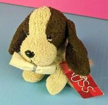 """Russ Mini Plush Tan Brown Dog 5"""" Granduation Scroll Stuffed Animal Bean ... - $12.86"""