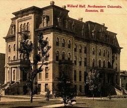 Willard Hall Le Université Evanston Illinois Il Vtg Postale 1908 - $14.95