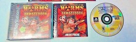 RARE PS1 GAME Worms: Armageddon PS1, 1999  BLACK LABEL - $25.09