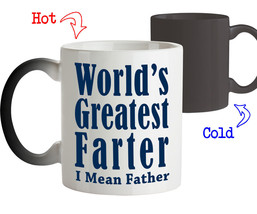 World's Greatest Farter-Best Funny  Fathers Day Gift for Dad Coffee Mug Tee Cup - $18.95+