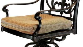Patio outdoor living cast aluminum bar stools set of 2 swivel Flamingo Bronze. image 2