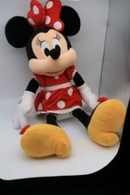 """Disney Deluxe Minnie Mouse Red Polka Dot Dress Large 25"""" Plush Doll Toy EUC  - $17.67"""