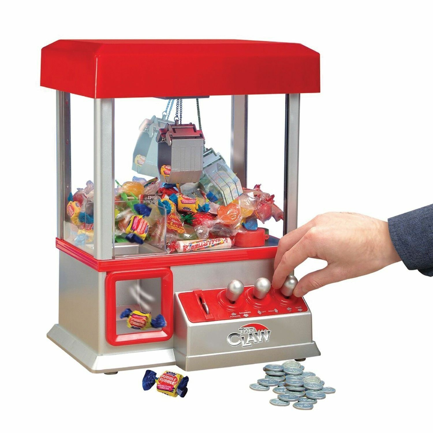 The CLAW Toy Grabber Crane Tabletop Arcade Machine Game Carnival Sounds