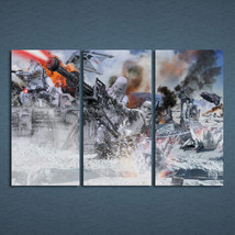 3 Pcs Star Wars Bbattle Of Hoth Wall Art Picture Printed Decor Canvas Pa... - $42.99+